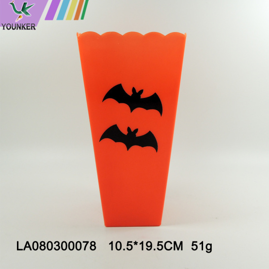 Halloween-themed plastic decorations for flower bottles