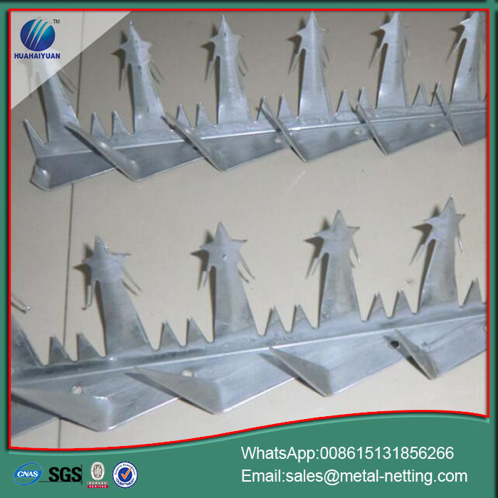 galvanized razor spike anti climb spike wall