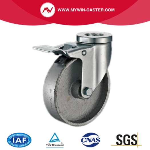 Bolt Hole Swivel Medium Duty Cast Iron Casters