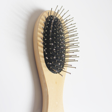 Bamboo Oval Paddle Boar Bristle Pet Brush