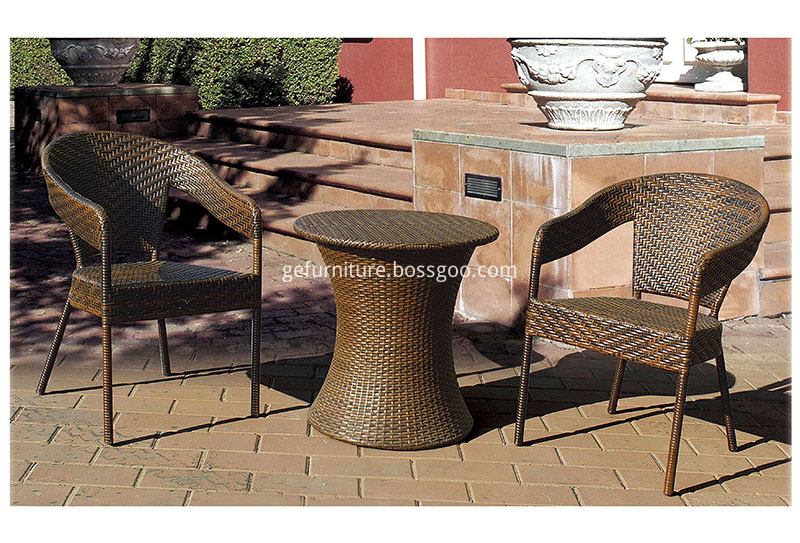 PE wicker bistro chair and table