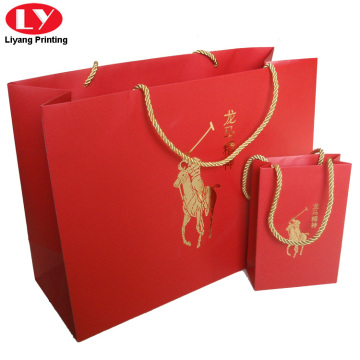 custom printed promotion paper packaging gift bag