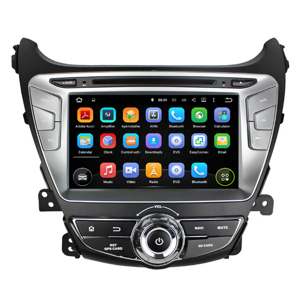 Quad core Hyundai Elantra 2014 Android 7.1 car dvd