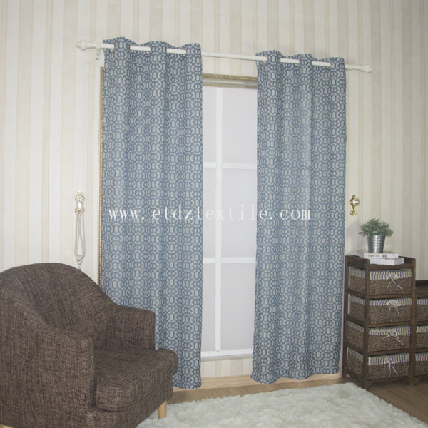 american style embossed  curtain fabric