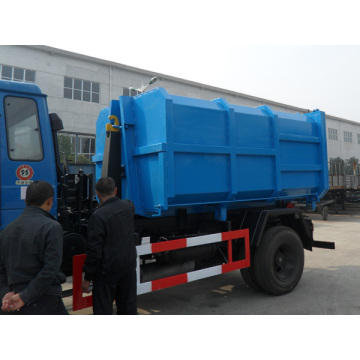 Economical new Dongfeng 10cbm hook lift garbage truck