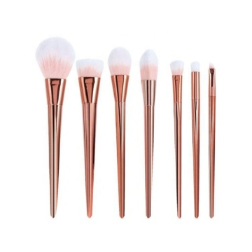 7 Pcs Beauty Brushes Kit Gold