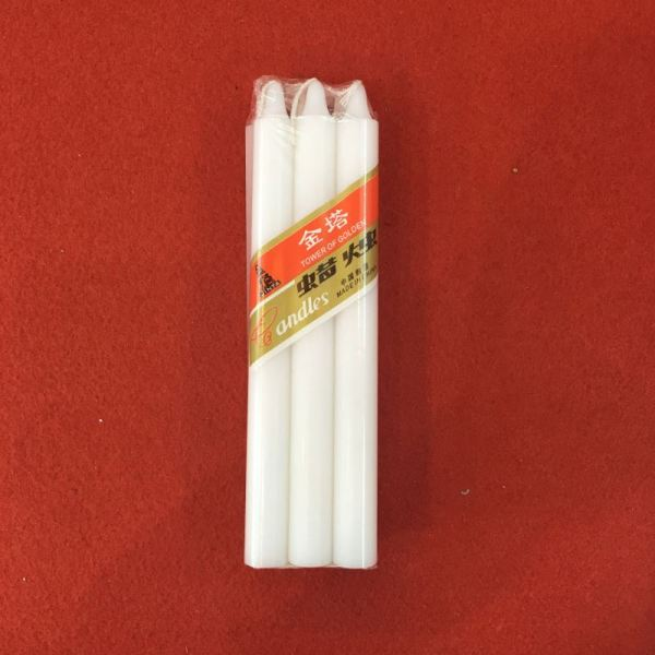 Pure Wax Dripless Big Household White Candle