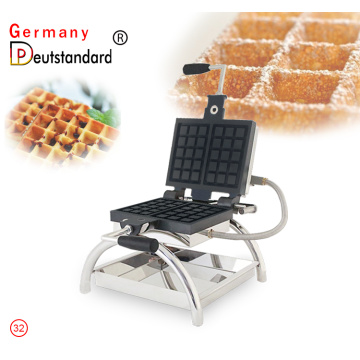commercial electric rotary belgian waffle machine with high quality for sale
