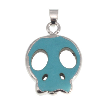Wrapped Turquoise charms pendant for Making Jewelry