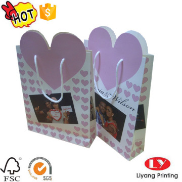 Sweet wedding paper bag heart shape top