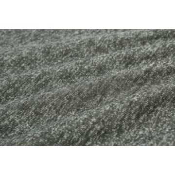 POLY BRUSHED MELANGE COLOR KNIT FABRIC