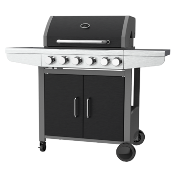Five Burner Gas Barbecue Grill With Side Burner