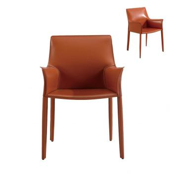Low Back PU Dining Chair with Armrest