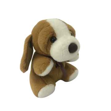 Plush Brown Dog Toy