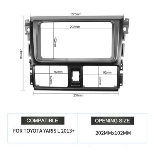 Plastic injection Car dvd Fascia frame for Yaris