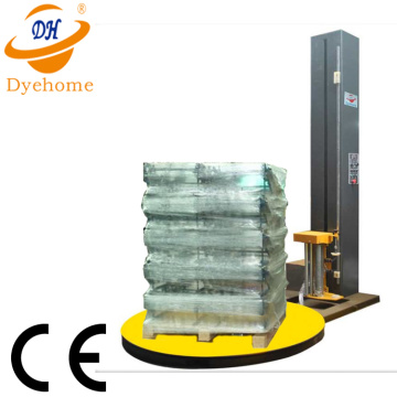 Remote control pallet film stretch wrapper