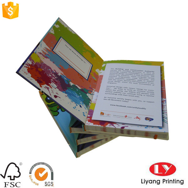 Children custom hardcover noyebook with elastic