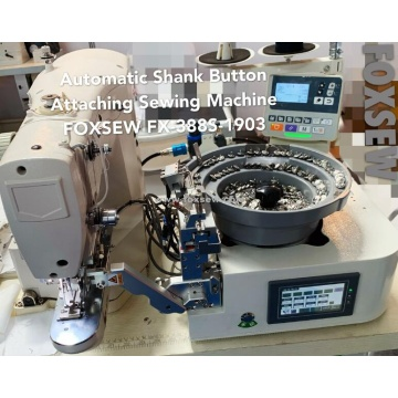 Automatic Shank Button Attaching Machine
