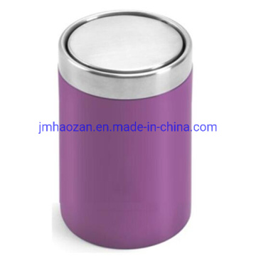 High Quality Desktop Stainless Steel Dustbin with Swing Lid, Dustbin