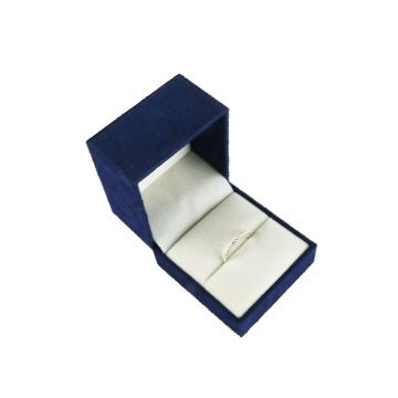 top quality blue pu leather ring box