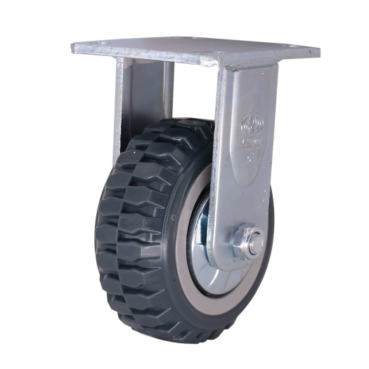 Grey PVC Castors Wheel for Industrial Trolley
