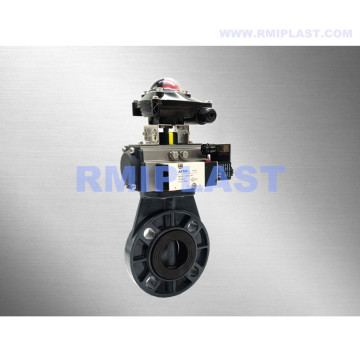 CPVC Butterfly Valve Pneumatic Spring Return