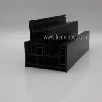 ASA Extruction Black Color Upvc Profiles
