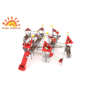 Adventure Bridge Net Outdoor Tube Slide Equipment