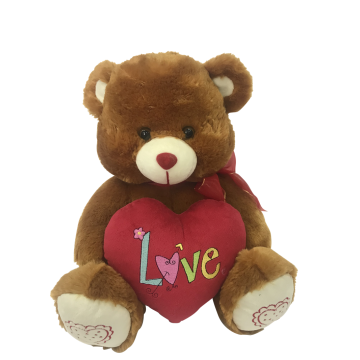 Plush Bear With Heart And Musical