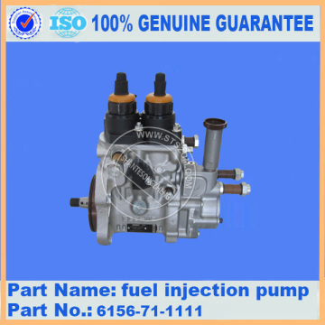 PC400-7 fuel pump 6156-71-1111 for Komatsu excavator