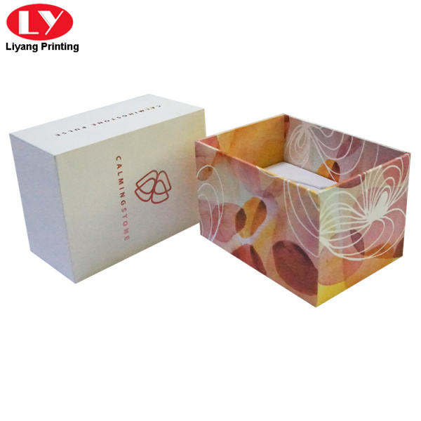 Rose foil stamp gift box for power accessories
