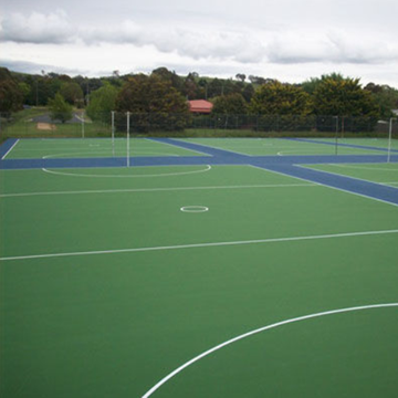 Outdoor suspended Netball Court Sports Surfaces