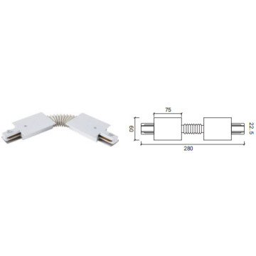 Flexible Connector Track For Light
