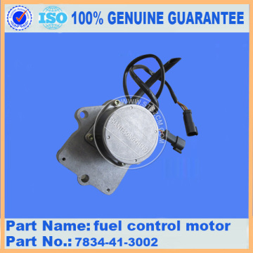 excavator spare parts fuel control motor 7834-41-3002 for PC300-7