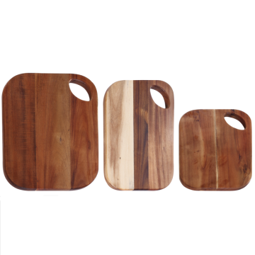 Rectangle wood chopping board with portable hole