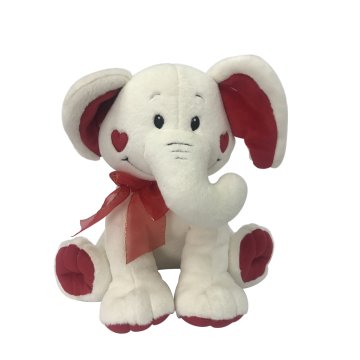 Plush Elephant Valentine`s Day