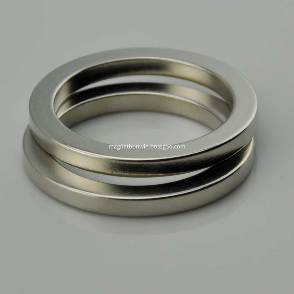 N40 ndfeb neodymium big ring magnet