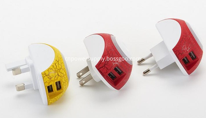5v 2 1a Dual Usb Charger With Led Night Lamp Us Eu Uk Plug Usb Phone Charger