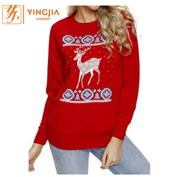 Best Selling Christmas Elk Printed Women Sweatshirts