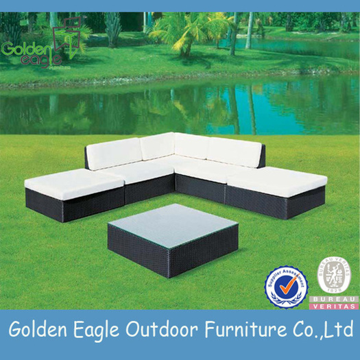 Combination Curved Modern Sofa Rattan Patio Furniture
