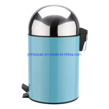 High Quality Half Round Lid Stainless Steel Pedal Trash Can, Dustbin