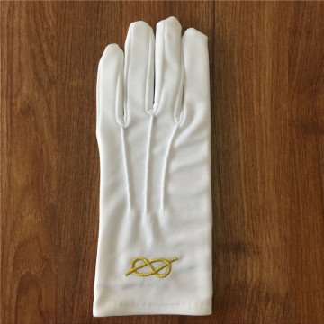 Acrylic Masonic Gloves With Embroider