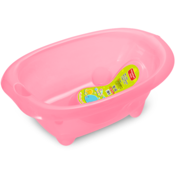 H8313 Transparent Plastic Baby Bathtub With Bath Support