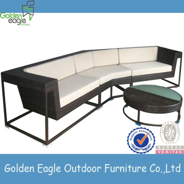L shaped rattan sofa set garden corner
