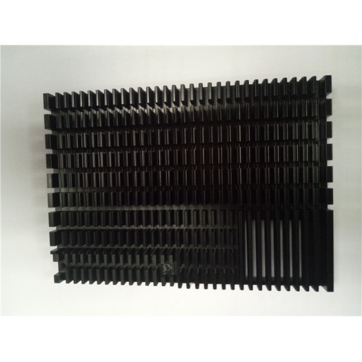 Aluminum Skiving Fin heat sink Black Anodizing