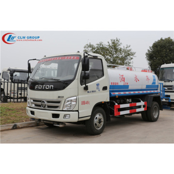 2019 new FOTON Aulin 6000litres road water sprinkler