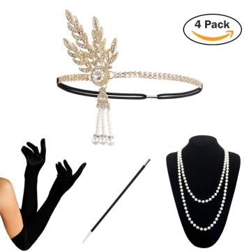 1920 Accessories Set KQueenStar 1920s Flapper Costume