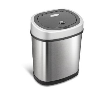 Ninestars Stainless Steel Metal Automatic Sensor Trash Bin