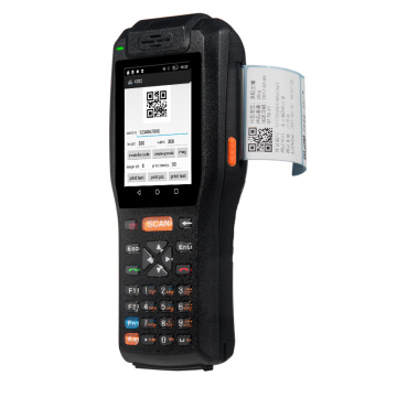 Portable data collector barcode scanner pda with printer