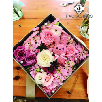 Package factory transparent square flower box